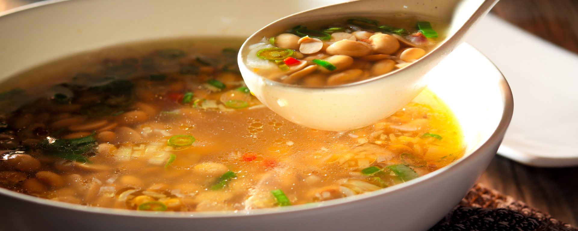 Ginger and Chilli Soy Bean Soup