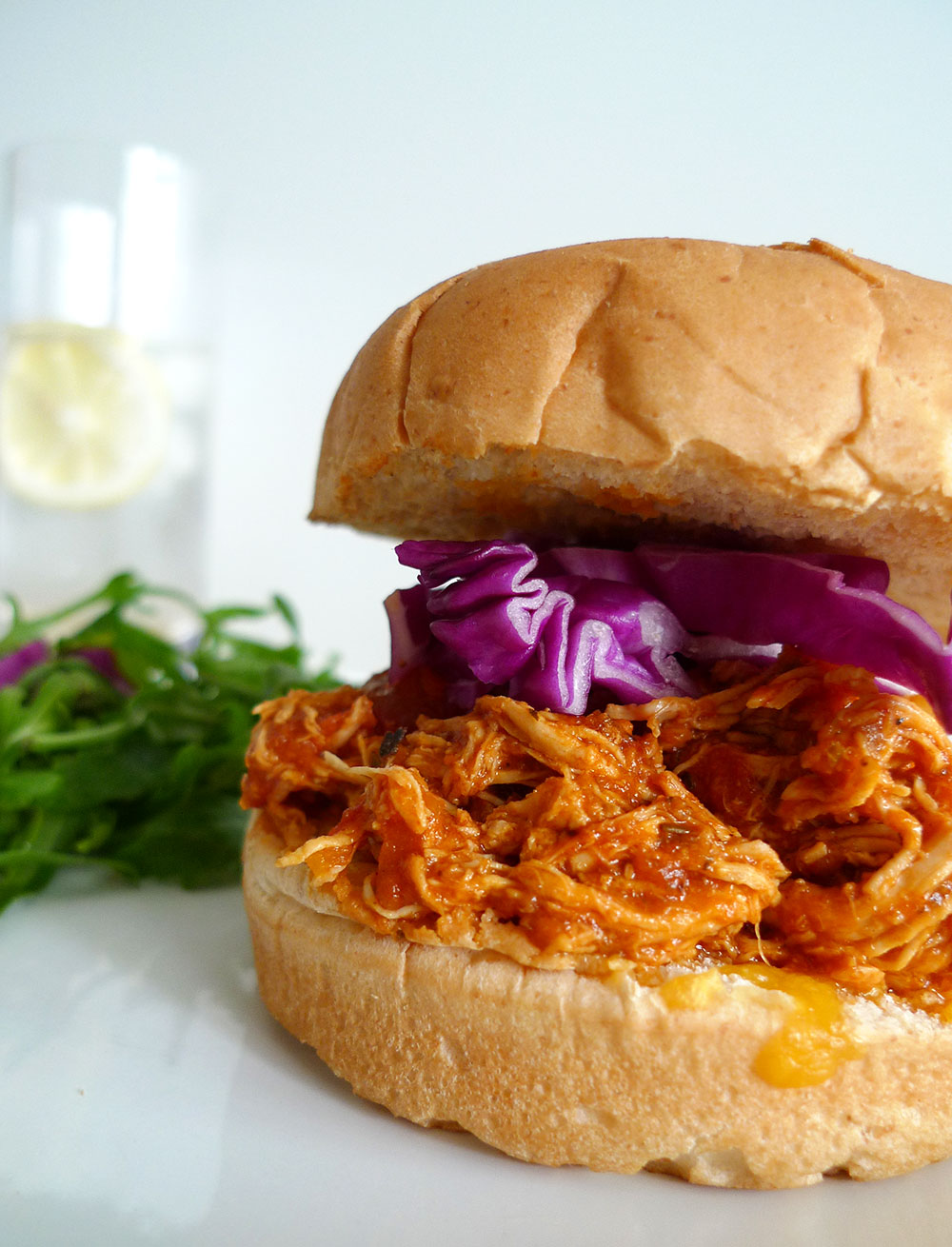 Citrus Barbecued Pulled Chicken Sandwich